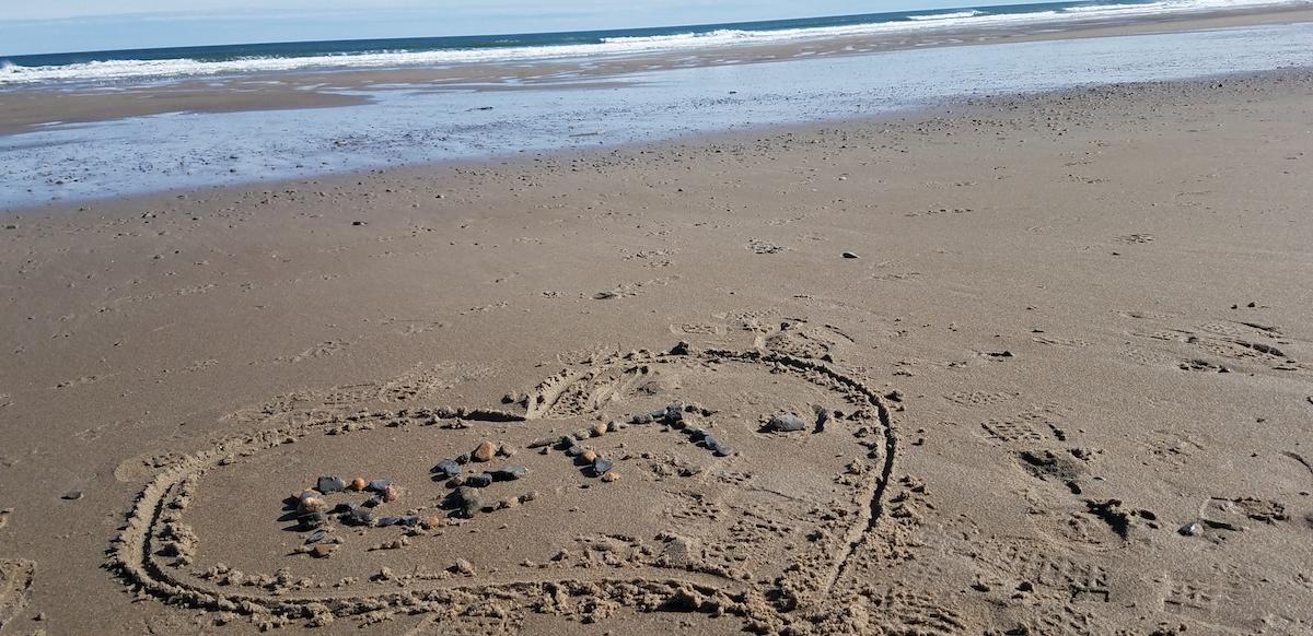 Rett in sand